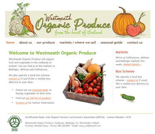 Westmeath organic produce website (click image to launch website)