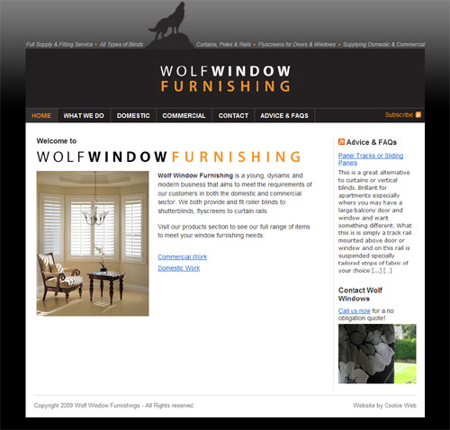 Wolf Window Furnishing, Mullingar - click to launch website