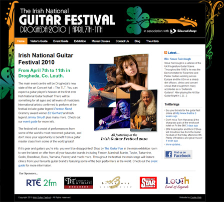 Irish Guitar Festival Website - Click to launch website