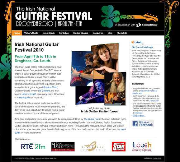 Irish Guitar Festival - click to launch website