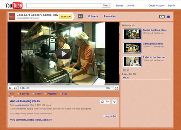 Casa Lara YouTube page