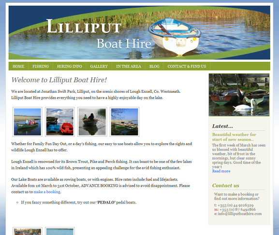 Lilliput Boat Hire website