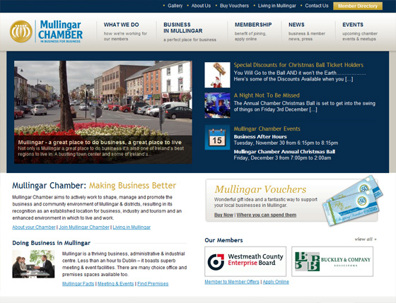 Mullingar Chamber of Commerce - Click image to launch website
