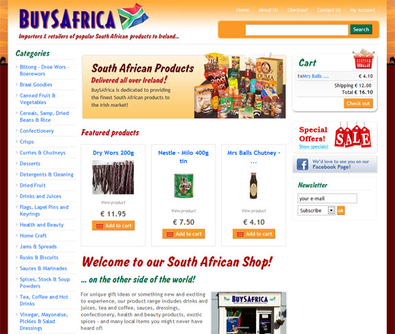 BuySAfrica - online shop specialising in South African products.