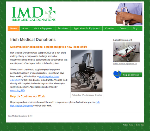 irish medical donations