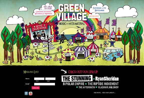 Green Village Music & Arts Festival - click to launch site