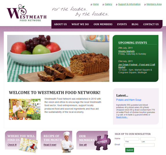 Westmeath Food Network - click to launch site