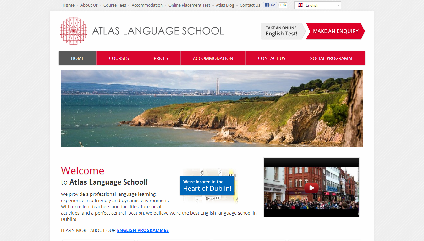 The Atlas Language School – click to launch website
