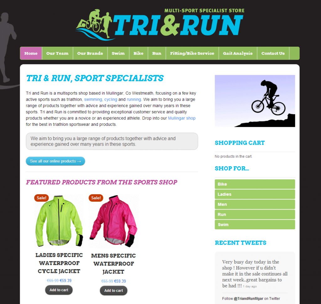Tri & Run Ecommerce Website