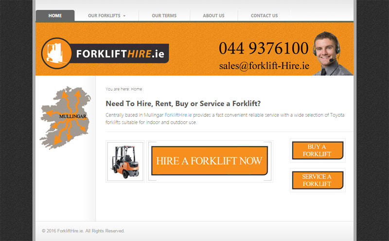 Forklift Hire - click to launch website