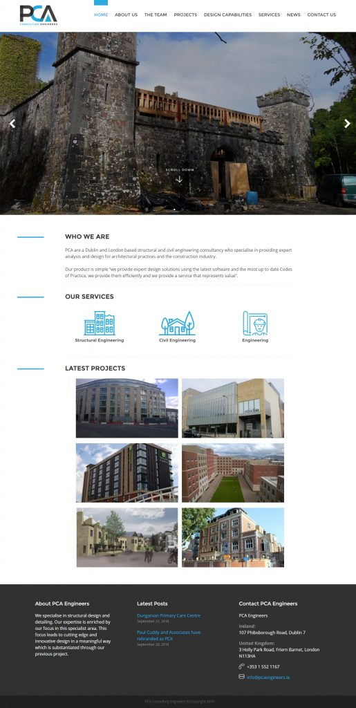 PCA Engineers website design