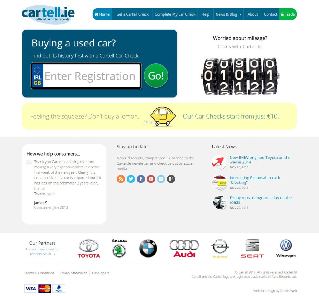 Cartell.ie - website redesign